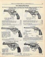 1929 PAPER AD 2 Sided  - The H. & D. Folsom Arms Co. - Iver Johson Revolvers