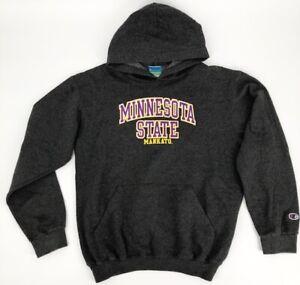 Champion Minnesota State Hooded Sweatshirt Mankato Hoodie Eco Fleece Youth XL