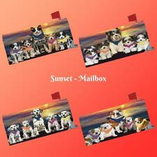 Family Sunset Dog Cat Mailbox cover, Pet Photo Lovers Gift Outdoor Garden Decor