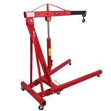 Engine Motor Hoist Cherry Garage Lifting Picker Crane Lift 4000 Lb Capacity Red