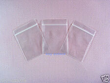 "100 Poly Ziplock Clear Zipper Bags 2.3"" x 3""_60 x 80mm"