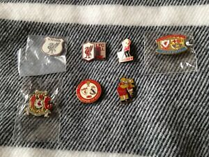 7 x Liverpool FC Pin Badge's good condition