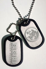 METAL GEAR SOLID PLATES NECKLACE PENDANT DOG TAGS PEACE WALKER BIG BOSS MGS