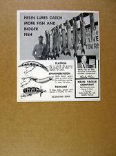 1964 Helin Fishing Lures fisherman muskie musky tournament photo print Ad