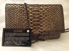 CHANEL python wallet su Catena Flap Bag