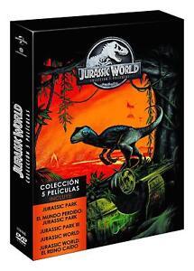 JURASSIC WORLD PARQUE JURASICO COLECCION COMPLETA DVD 1-5 NUEVO ( SIN ABRIR )