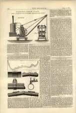 1874 Portable Steam Crane J Garvie Albion Ironworks Aberdeen
