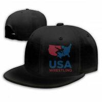 USA Wrestling Snapback Baseball Hat Adjustable Cap