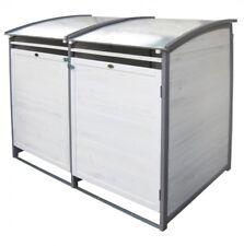 Doppel Mülltonnenbox 2x 120l Mülltonne Mülltonnenverkleidung M