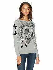 Desigual Jers See Pull Femme Gris (glaciar Grey 2082) Small