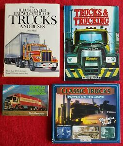 THE ILLUSTRATED ENCYCLOPEDIA OF TRUCKS AND BUSES Miller plus 3 other truck books