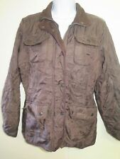 "Barbour D1802 Utility Winter Quilt jacket M UK 12"" Euro 38 in Brown"