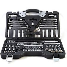 """Socket Wrench Spanner Set CRV 1/2"""" 1/4"""" 3/8"""" Drive Metric & Imperial ND-0605"""