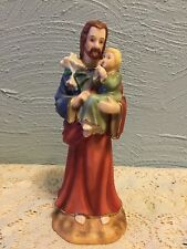 St. Joseph Holding Baby Jesus Porcelain Figurine