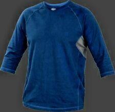 Rawlings Baseball Adult Performance Shirt Active Top Vented Navy Blue 3/4 Sleeve