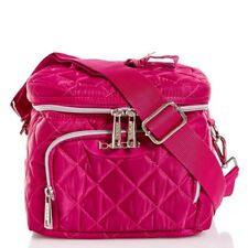 BEBE Cargo Lunch Tote Top Handle Bag Insulated Crossbody School Fuchsia NWT
