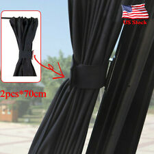 2X70cm Car Sun Shade Side Window Curtain Auto Foldable UV Protection Accessories