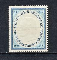 (NNDR 008) GERMANY 1955 MNH Bund BRD Mi 210 Sc 727 Poet Friedrich von Schiller