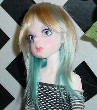 "Doll Wig, Monique Gold ""Jojo"" Size 8/9 Golden Blonde w Blue"