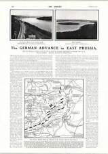 1915 German Advance In East Prussia Detailed Map