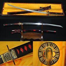 JAPANESE SAMURAI SWORD SAKABATO (REVERSE-EDGED SWORD) CLAY TEMPERED SHARP BLADE
