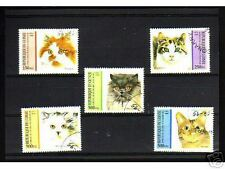 0913++GUINEE   SERIE TIMBRES  CHATS  N°3