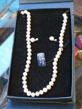 LOT OF  Genuine Freshwater Pearl Necklace and Earring Sets Sterling Silver