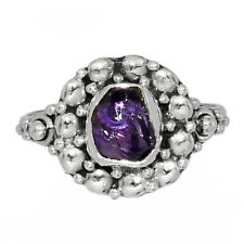Amethyst Rough - African 925 Sterling Silver Ring Jewelry s.8 AR154036 147W