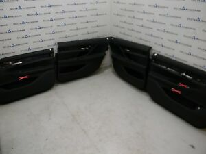 BMW 7er G12 Türverkleidung Vorne Hinten Leder Door Panels Leather DAKOTA SCHWARZ
