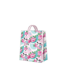 Printed Paper Gift Present Bag GOOD MORNING Umbrella Blue Pink Roses Medium