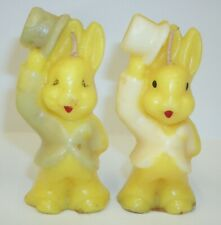 Vintage 1950's Easter Bunny Rabbit Candles - Set of 2
