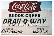 Vintage NHRA Drag Racing-BUDD'S CREEK DRAG-O-WAY Entrance Sign