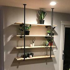 Screw Accessories Included 2PCS Pipe Shelf Brackets Industrial Iron Heavy Duty Shelf Supports for Bookshelf Shelf Floating Shelves Wall Mounted DIY Shelving Brackets 90x140mm