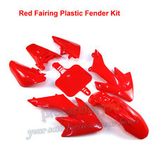 Carenatura Rosso in Plastica Fender Corpo Kit Per Honda xr50 crf50 DIRT BIKE PIT Trail