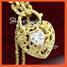 24K GOLD GF LAB DIAMOND LUXURY PADLOCK BELCHER RINGS CHAIN BANGLE BRACELET GIFT
