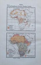 1931 AFRIKA ASIEN JAVA VORDERINDIEN alter Druck Antique Print Lithografie