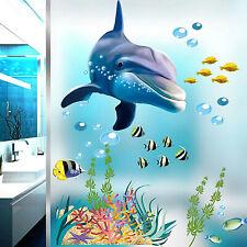 Wandtattoo Wandsticker Fische Delfin Badezimmer Bild Aquarium Meer Meerestiere