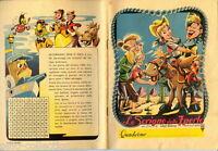 """QUADERNO ANTICO WALT DISNEY """"Lo scrigno delle 7 perle"""" 1951 Melody Time antique"""