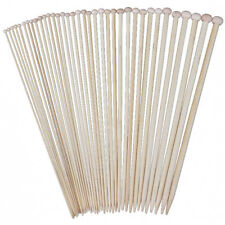 18 Sizes 36cm Single Pointed Bamboo Knitting Needles Set Kit (2.0mm - 10.0 U3M5