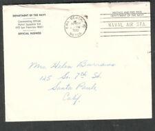 1970 penalty cover Dept Navy Patrol Squadron SIX Air Station EWA Brach Hawaii