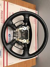Used 03-06 Acura MDX black leather steering wheel. Good condition.