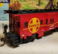 HO Athearn Santa Fe bay window caboose rtr series for train set metal wheels