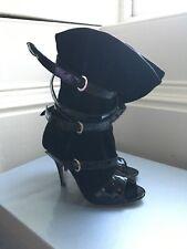 vivienne westwood Black Suede Buckle Boots 37 Uk