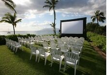 NEW Open Air Cinema CBP16 16' x 9' Pro Screen w/ STANDARD Projector & Speakers