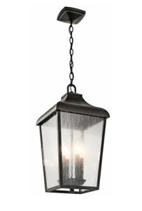 KICHLER  49740OZ FORESTDALE 4-LIGHT OUTDOOR HANGING LANTERN OLDE BRONZE