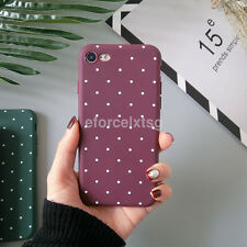 Ultra Thin Matte Polka Dot Pattern Soft TPU Case Cover for iPhone 7 5S 6S Plus