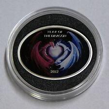 1 $ SILVER COIN - YEAR OF THE DRAGON 2012 - NIUE ISLAND - DRAGON LOVE