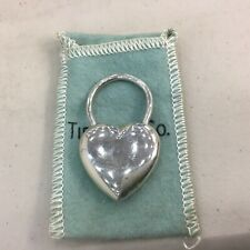 Rare Vintage TIFFANY & CO HEART KEYCHAIN STERLING SILVER