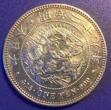 RARE Japan Year 1896 Meiji 29 One Yen Dragon Silver Coin