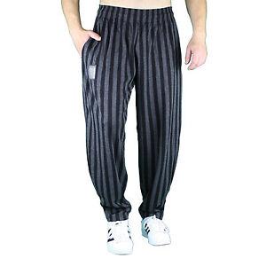 schwarz grau breitgestreift Bodybuilding Gym Hose Sporthose Freizeithose MORDEX
